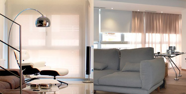 Cortinas BlackOut Motorizadas con Cortinas de Voile