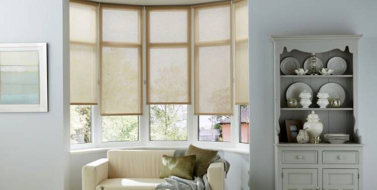 Cortinas Roller para Bow Window
