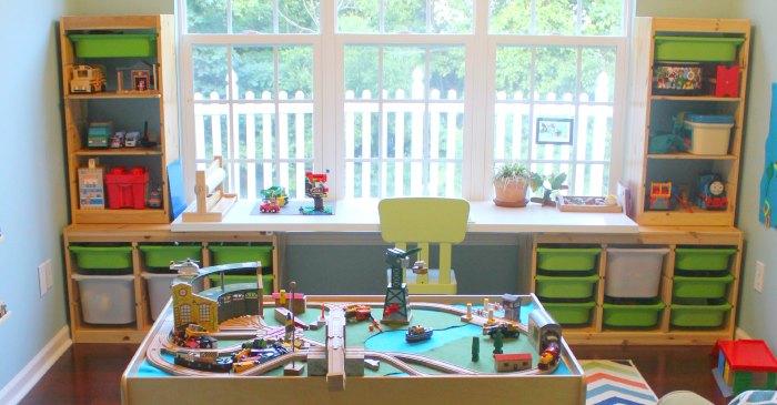 Cortinas para playrooms y cuartos de estudio