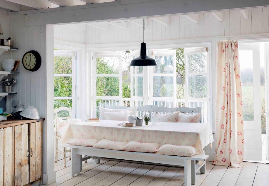 Las Cortinas y los Detalles del Cottage Style